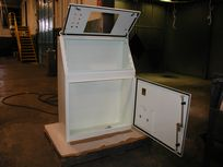 Complete Enclosure Assembly Including Gasketing, Door   Latch, and Locks