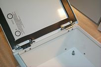 Hinge and Gasket Assembly on Aluminum Enclosure