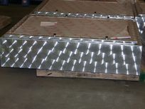 Lexan Window and Latch Assembly on Aluminum Cabinet for Pressurized Chemical   Bottles